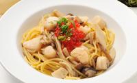 イクラたっぷりホタテと野菜のスパゲッティ(秋限定メニュー)