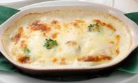ホタテと野菜のマカロニグラタン